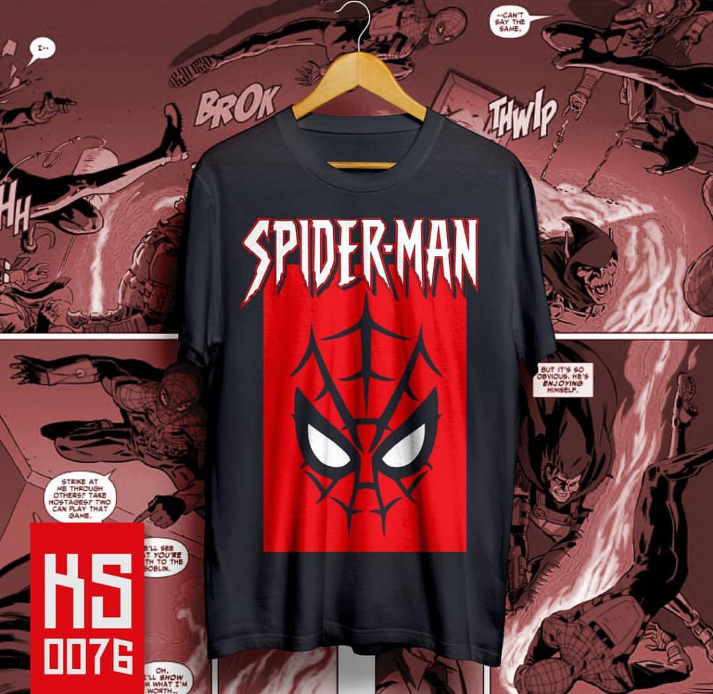 Custom T-shirt Free Design online Spiderman di Serpong