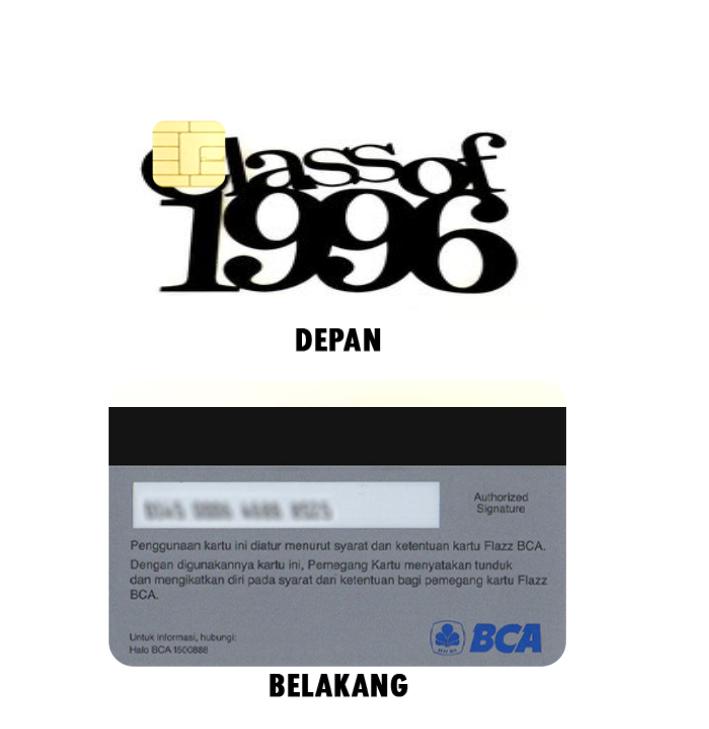 Cetak Flazz Card Tema Reuni Sekolah Anak di Padang