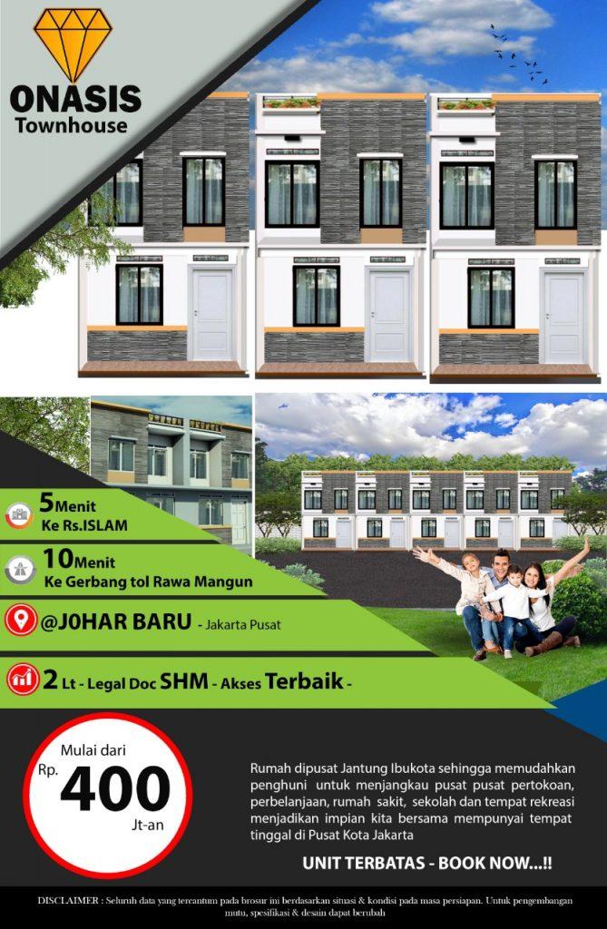 Dijual Rumah Jakarta Pusat di Town House Onasis